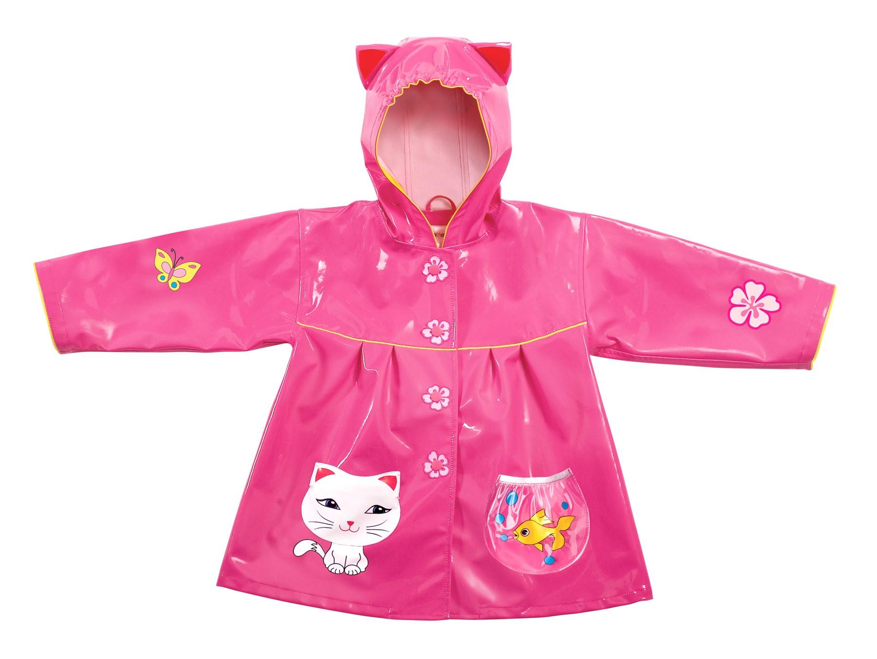 Capa de chuva Gatinha Feliz -  Kidorable - tamanho 4