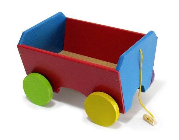 Carreta Campestre de Madeira - Colorida - Wood Toys