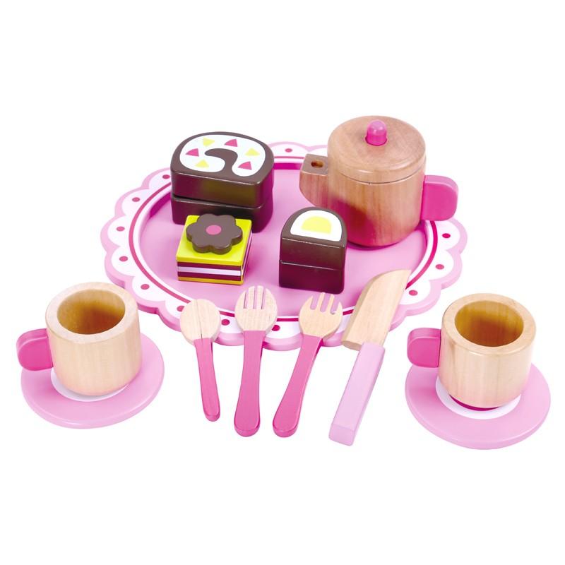 Conjunto Chá da Tarde Infantil - Brinquedo de madeira - Tooky Toy