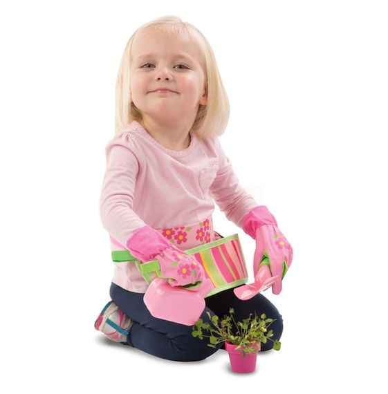 Conjunto de jardinagem - Rosa - Happy Giddy - Melissa & Doug