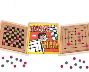 Jogo de Damas e Trilha - Simque