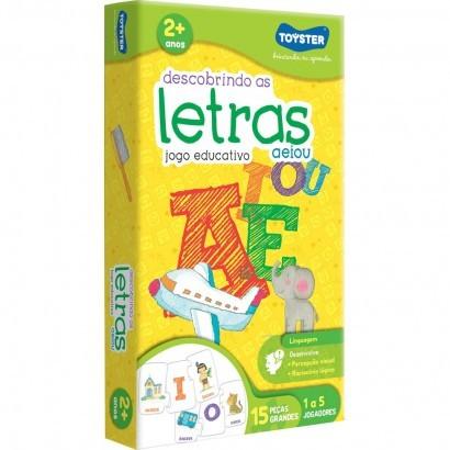 Descobrindo as Letras - A E I O U - Brinquedo educativo - Toyster