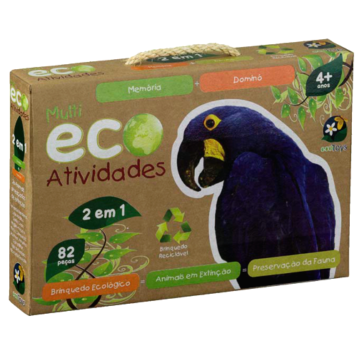 ECO Toys - Atividades - Animais em Extinção - Bate Bumbo