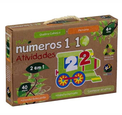 ECO Toys - Números Atividades - Bate Bumbo