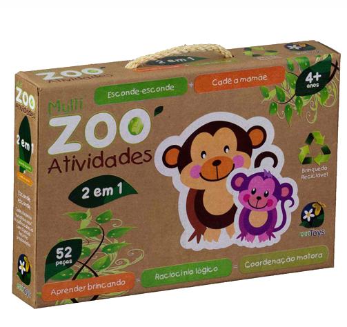 ECO Toys - Zoo - Cadê a mamãe e Esconde-esconde - Bate Bumbo