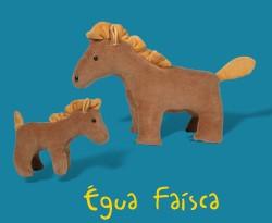 Égua com filhote - Animais de Pelúcia Grávidos - Bichos de pano