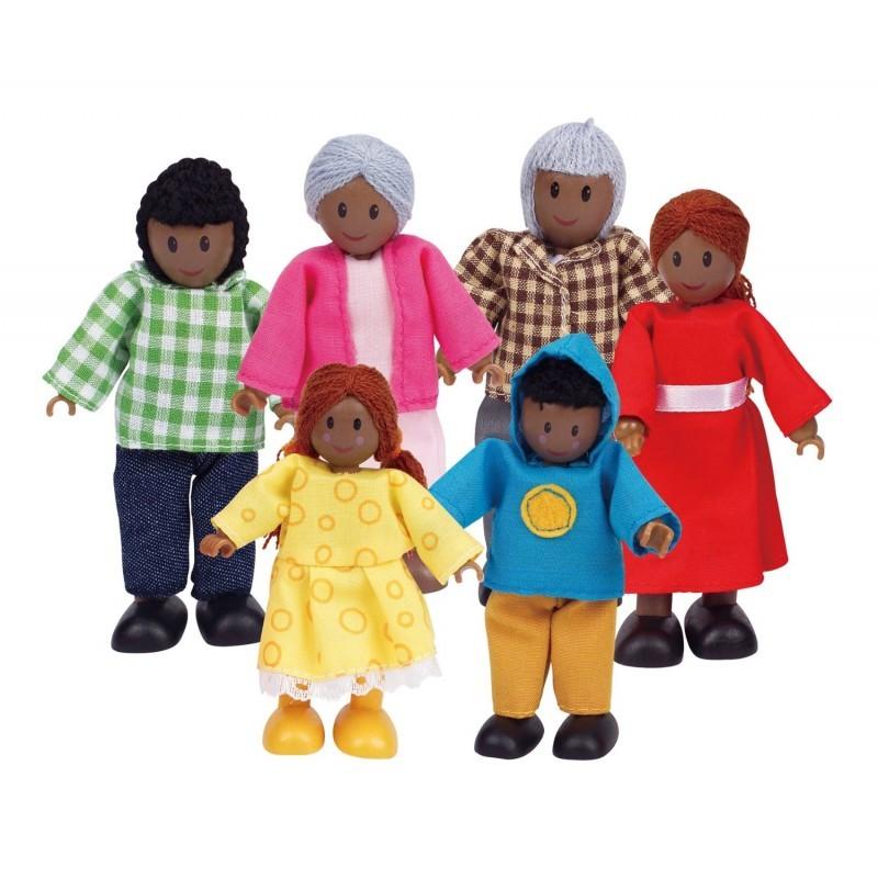 Familia Feliz - Negra - Brinquedo de Madeira - Hape