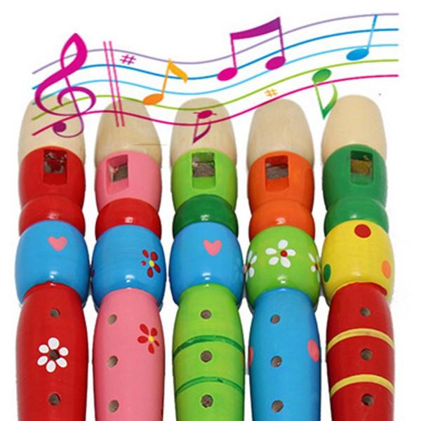 Flauta de madeira com 6 notas - Infantil