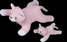 Gata Mimi com 1 filhote na barriga- Animais de Pelúcia Grávidos -  Bichos de pano