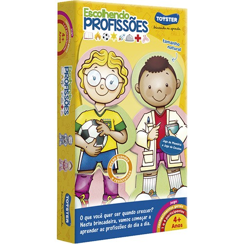 Jogo Educativo Escolhendo profissões - Toyster