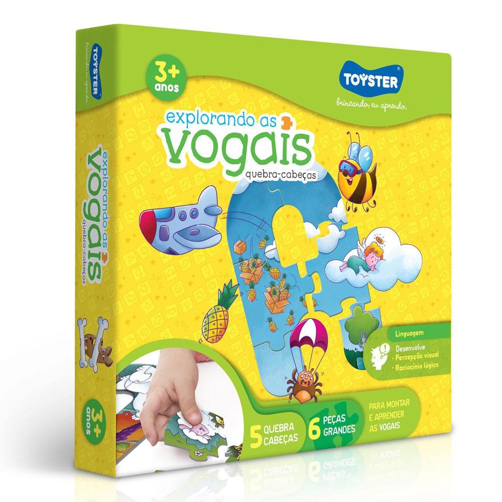 Jogo Educativo Explorando as Vogais - Toyster