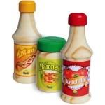 Ketchup, Mostarda e Maionese - Coleção Comidinhas - New Art Toys