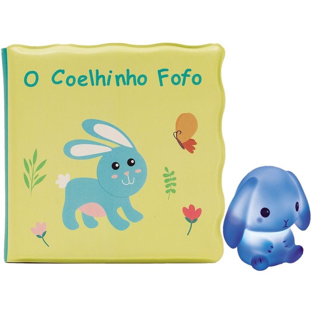 Kit Livrinho de banho e Coelhinho com Luz - Buba
