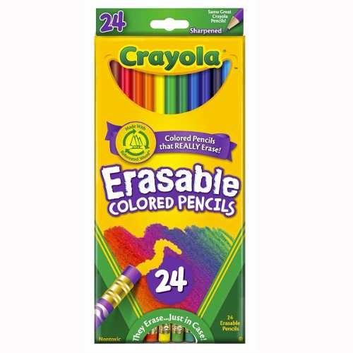 Lápis de cor que apaga - 24 cores - Crayola