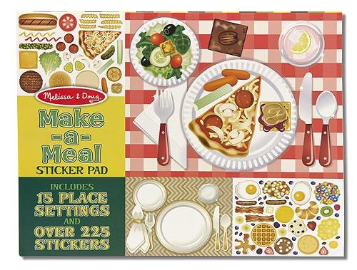Caderno de Atividades Fazendo uma Refeição -  Adesivos Colecionador - Melissa & Doug