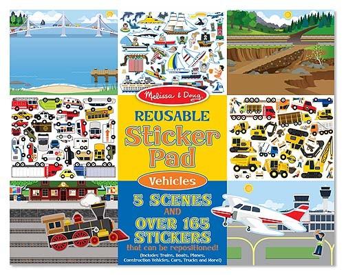 Caderno de Atividades Veículos -  Adesivos Colecionador - Melissa & Doug