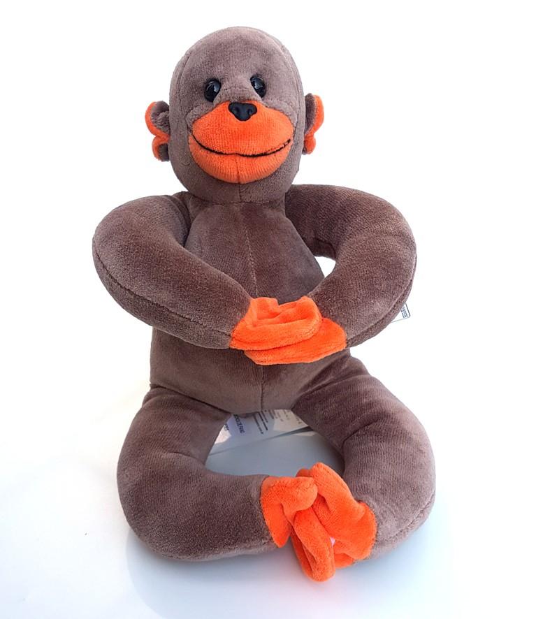 Macaco barrigudinho filhote -  Bichos de pano