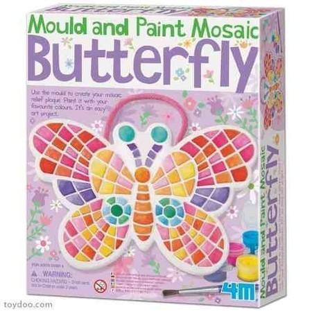Molde e Pinte Mosaico  Borboleta - 4M