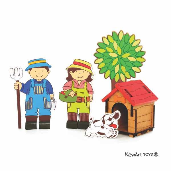 Coleção Fazendinha - Kit Fazendeiros - New Art Toys
