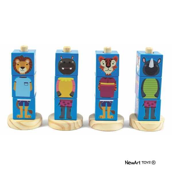 Coleção Cubos Animais - Azul - New Art Toys