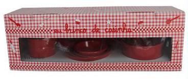 Panelinhas 11 peças na caixa - vermelho - A de Aurélia