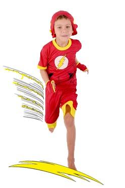 Pijama Flash - 6 anos - Lé com Cré