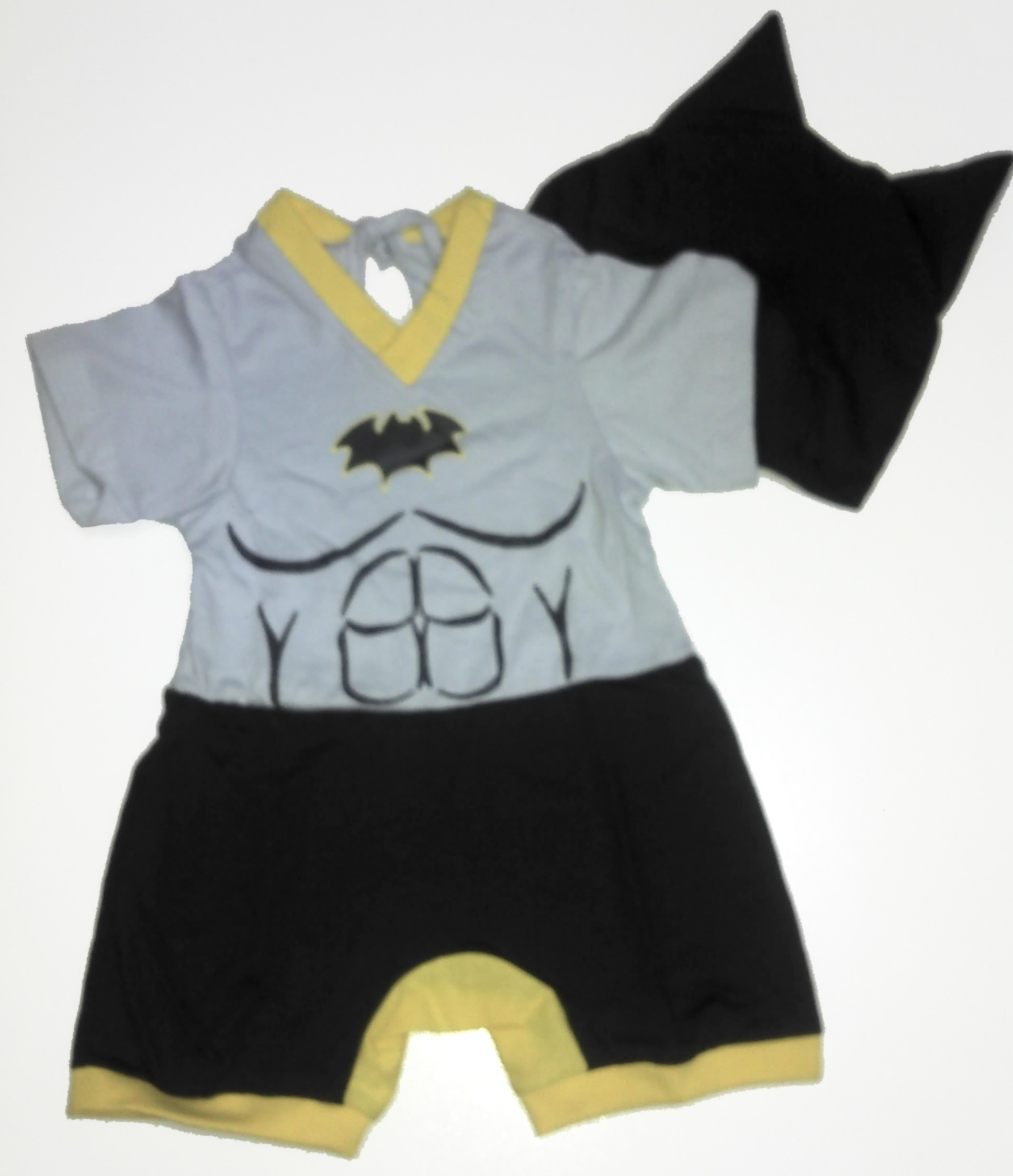 Pijama body cinza e amarelo Batman G – Lé com Cré
