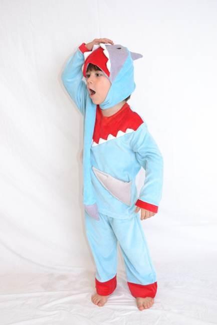 Pijama inverno tubarão 4 anos