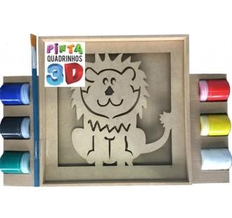 Pinta Quadrinhos 3D - Leão - Bate Bumbo