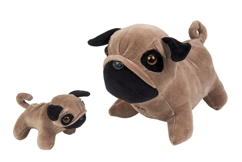Cachorro Pug com filhote - Animais Grávidos - Bichos de pano