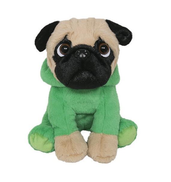 Cachorro Pug com roupa de Dino - Pug Dinossauro - Buba