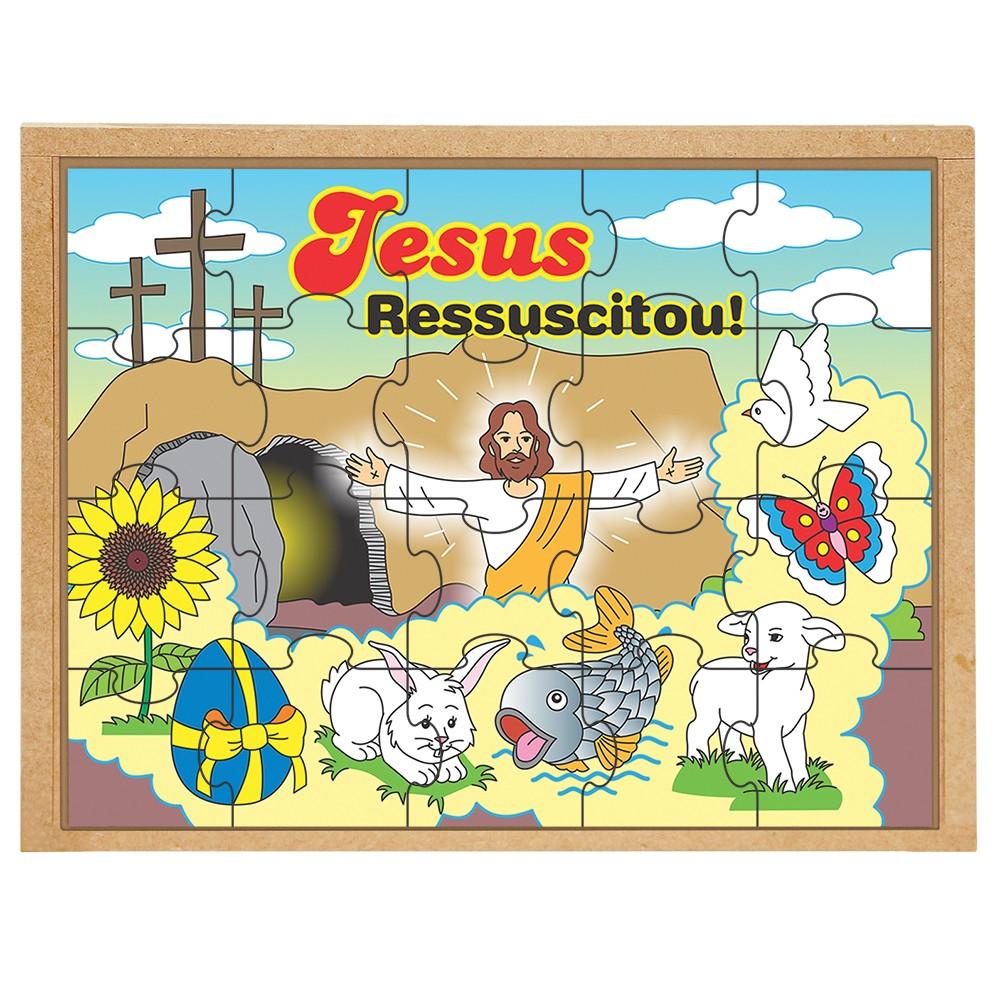 Kit 4 Quebra-cabeças Religiosos - Carlu