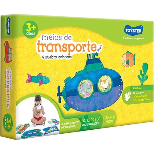 Quebra Cabeça Progressivo Meios de Transporte - Toyster