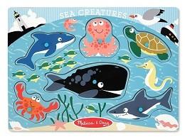 Quebra Cabeça de Pinos - Criaturas do Mar - Melissa & Doug