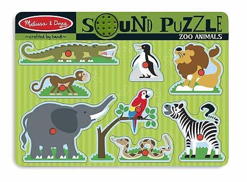 Quebra Cabeça com som - Animais de Zoológico - Melissa & Doug