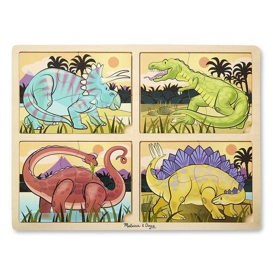 Quebra cabeça - Dinossauros - 4 em 1 - Melissa & Doug