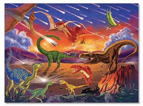 Quebra Cabeça  Dinossauros - 300 Peças - Melissa & Doug