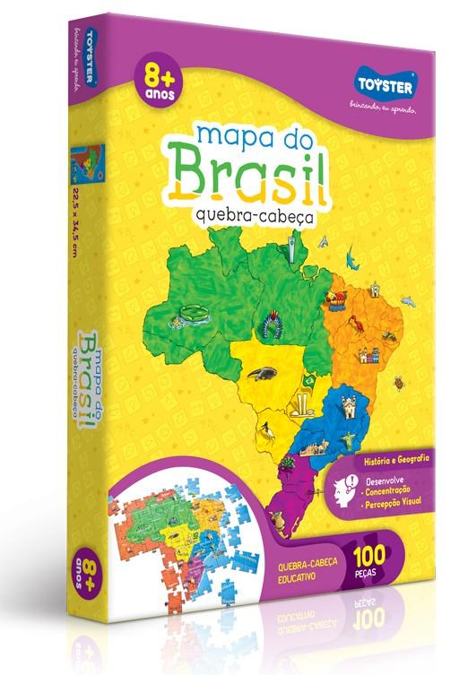 Quebra-cabeça Mapa do Brasil - 100 peças - Toyster