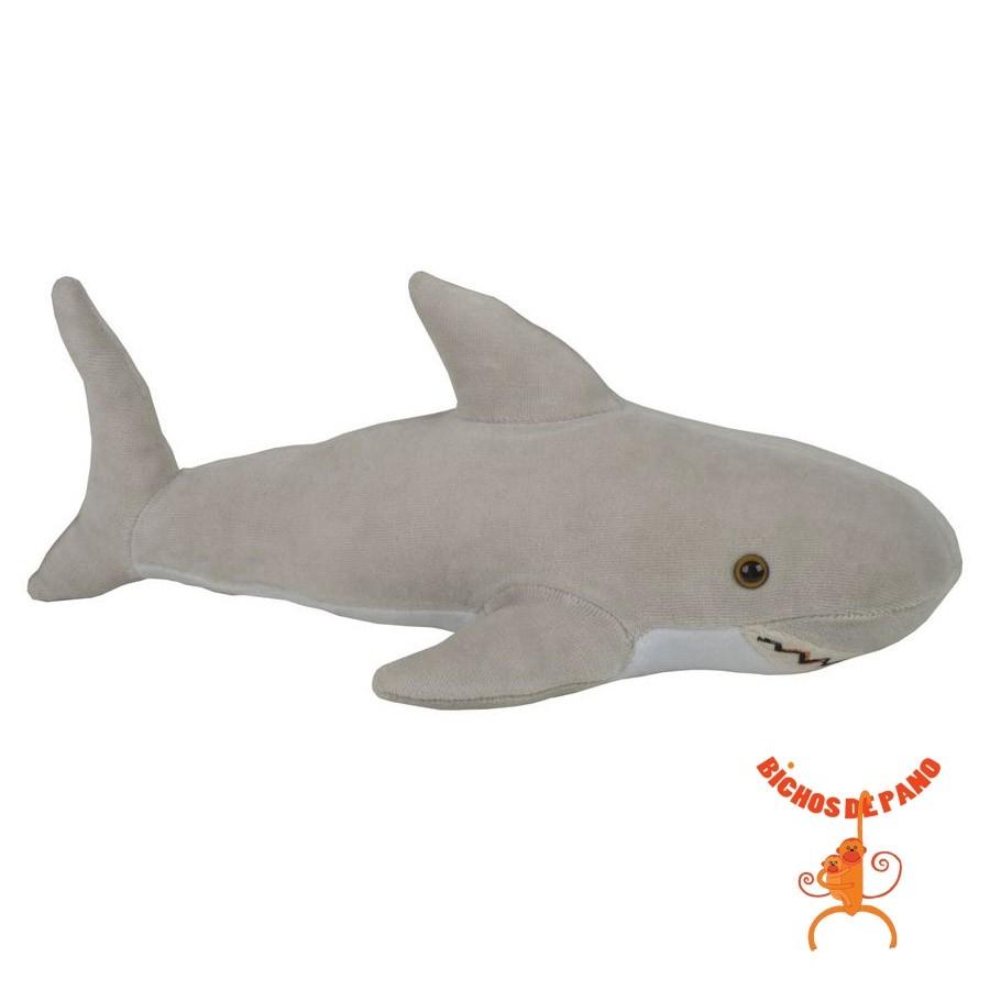 Tubarão Branco - Animais de Água - Bichos de pano