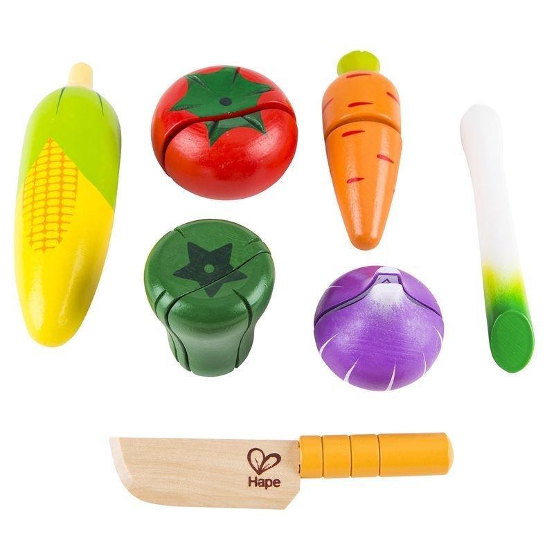 Legumes Vegetais Frescos Brinquedo Educativo de madeira - HAPE