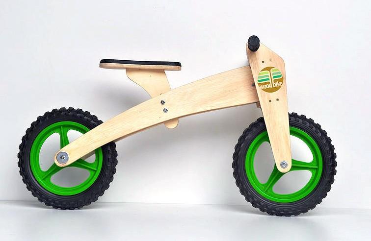 WoodBike - Bicicleta de Madeira - 2 estágios - VERDE
