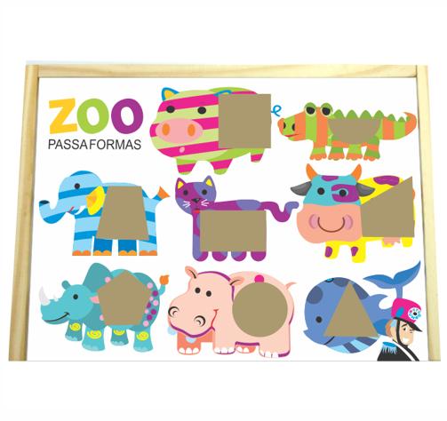 Zoo Caixinha Passa Formas - Bate Bumbo