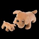 Cachorro Buldog com filhote- Animais de Pelúcia Grávidos - Bichos de pano