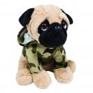 Cachorro Pug com roupa de Militar - Pug Militar - Buba