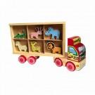 Brinquedo Caminhão Zootrans de Madeira Carimbras