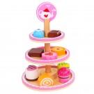Conjunto Sobremesa - Torre de doces - Brinquedo de madeira - Tooky Toy