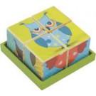 Coleção Cubos de Madeira Corujinhas - New Art Toys