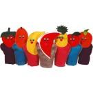 Fantoche Frutas com 7 personagens - Ciabrink