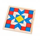 Mini Mosaico de Madeira - Tangram
