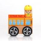 Ônibus Escolar em Blocos de madeira Com 5 Peças - Dican